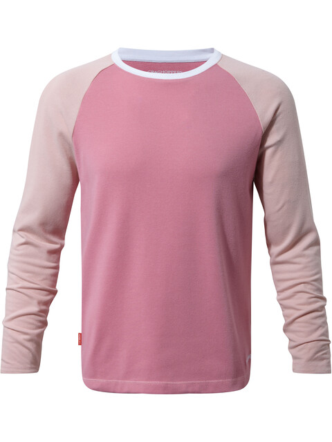 Craghoppers NosiLife Barnaby Longsleeve Tee Kids English Rose